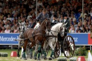 World Champion, Felix Brasseur in the obstacle driving - ©FEI