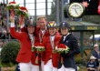 World Champion Jos Lansink with silver medallist Beezie Madden, bronze medallist Meredith Michaels-Beerbaum and 4th placed Edwin - ©FEI