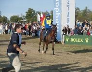Maria Mercedes Alvarez Ponton (ESP) crosses the line in first place - ©Kit Houghton / FEI