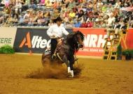 Craig Schmersal (USA) riding Mister Montana NIC Silver Medallist in the reining - ©Peter Nixon /FEI