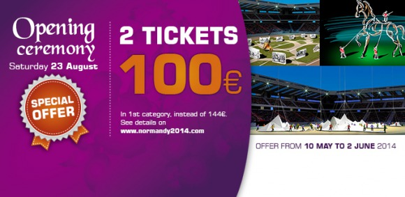 Opening Ceremony : 2 tickets in 1st category for only 100 euros