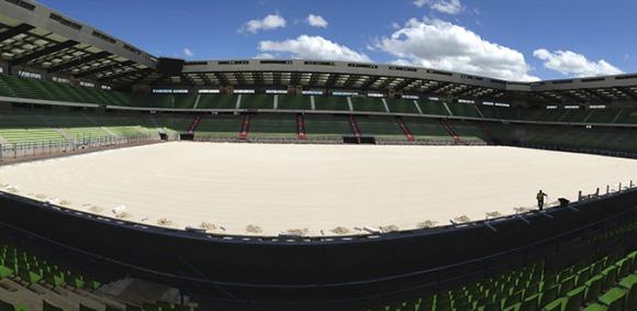 D'Ornano Stadium transformed into an equestrian arena!