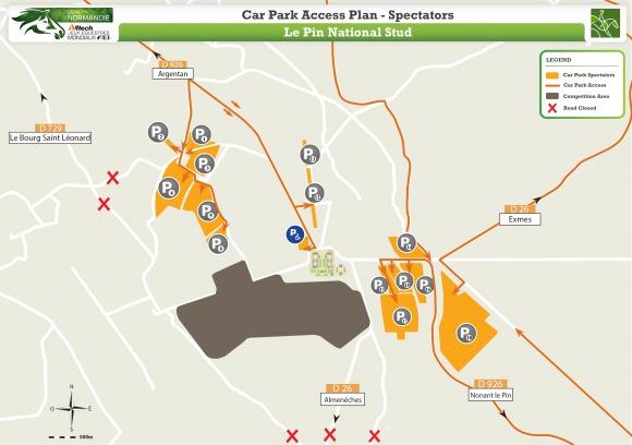 Car Park Access Plan Spectators - Le Pin National Stud