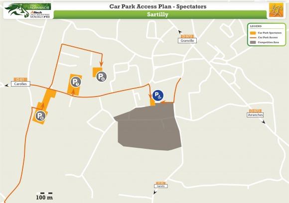 Car Park Access Plan Spectators Sartilly