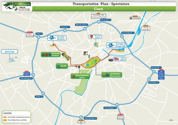 Transportation Plan Spectators Caen