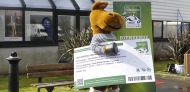 Norman our mascot with a giant ticket - ©Franck Castel
