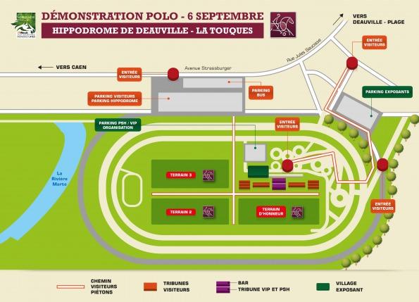 Map Hippodrome de la Touques