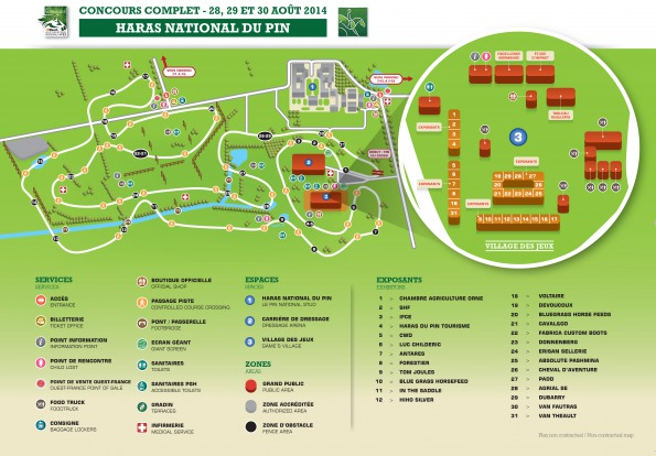 Map Le Pin National Stud