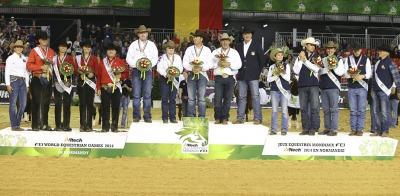 Reining:  Team USA wins the Gold!