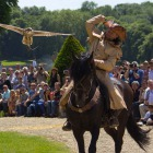 Falconry on horseback