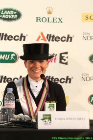 Dressage - press conference Grand Prix Special - Kristina SPREHE - August 27 - ©PSV Photos