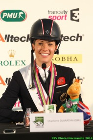 Dressage - press conference Grand Prix Special - Charlotte DUJARDIN - August 27 - ©PSV Photos