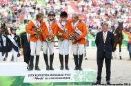 The Netherlands team in bronze - Eventing  - ©Comité d'Organisation Normandie 2014
