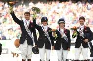 British team in silver - Eventing  - ©Comité d'Organisation Normandie 2014