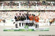 Team Podium -  Eventing - ©Comité d'Organisation Normandie 2014