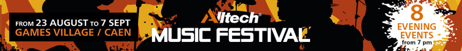 Alltech Music Festival - From 23 August to 7 September - Games' Village / Caen - 8 evening events from 7pm