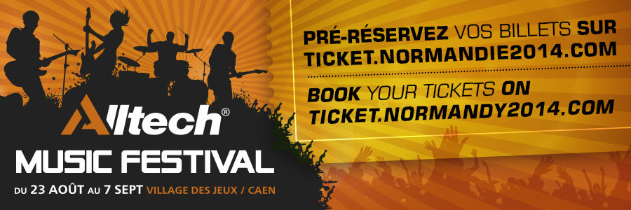 Alltech Music Festival - From 23 August to 7 September - Games' Village / Caen